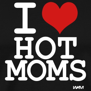Black i love hot moms by wam T-Shirts - Men's Premium T-Shirt
