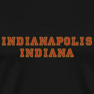 Indianapolis Indiana college-stile t-shirt red/gold - Men's Premium T-Shirt