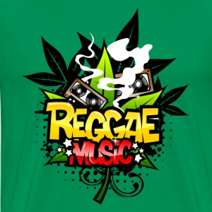 Bright green Reggae Music T-Shirts - Men's Premium T-Shirt