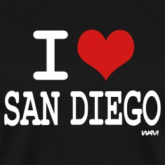 Black i love san diego by wam T-Shirts