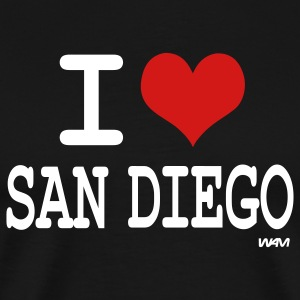 Black i love san diego by wam T-Shirts - Men's Premium T-Shirt