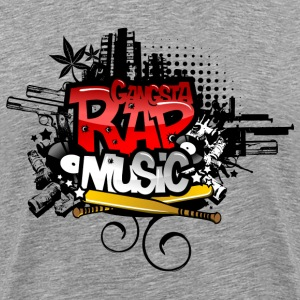Heather grey Gangsta Rap Music T-Shirts - Men's Premium T-Shirt