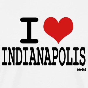 White i love indianapolis by wam T-Shirts - Men's Premium T-Shirt