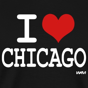 Black i love chicago by wam T-Shirts - Men's Premium T-Shirt