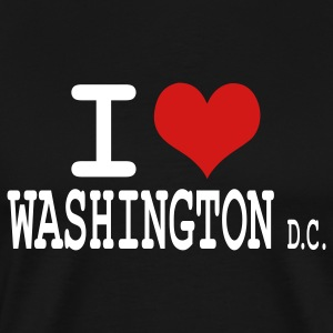 Black i love washington dc by wam T-Shirts - Men's Premium T-Shirt