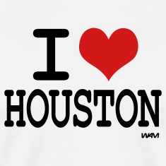 White i love houston by wam T-Shirts
