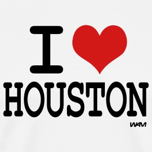 White i love houston by wam T-Shirts - Men's Premium T-Shirt