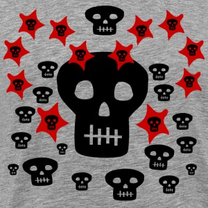 Ash  Multitude of Skulls With Stars--DIGITAL DIRECT PRINTING ONLY! T-Shirts - Men's Premium T-Shirt