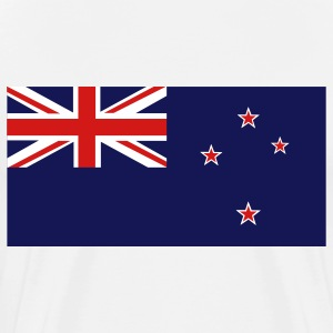 White New Zealand Flag T-Shirts - Men's Premium T-Shirt