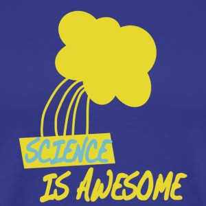 Royal blue Science is Awesome T-Shirts - Men's Premium T-Shirt