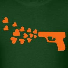 Forest green gun & hearts T-Shirts