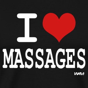 Black i love massages by wam T-Shirts - Men's Premium T-Shirt