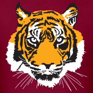 Burgundy tiger T-Shirts - Men's T-Shirt