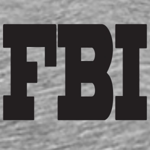 Heather grey fbi T-Shirts - Men's Premium T-Shirt
