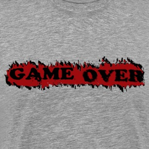 Heather grey gameover T-Shirts - Men's Premium T-Shirt