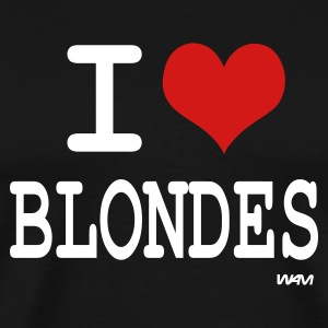Black i love blondes by wam T-Shirts - Men's Premium T-Shirt
