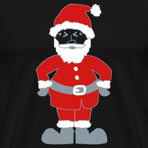 Black Santa Claus T-Shirts - Men's Premium T-Shirt