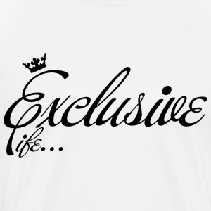 White Exclusive Life T-Shirts - Men's Premium T-Shirt