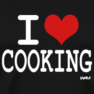 Black i love cooking by wam T-Shirts - Men's Premium T-Shirt