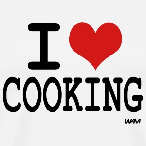 White i love cooking by wam T-Shirts - Men's Premium T-Shirt