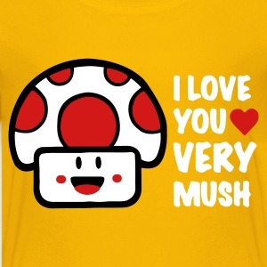 Yellow i love you very mush Kids' Shirts - Kids' Premium T-Shirt