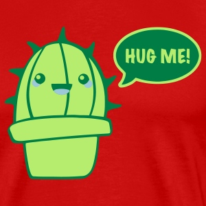 Red cactus (hug me) T-Shirts - Men's Premium T-Shirt