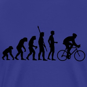 Royal blue evolution_radfahrer T-Shirts - Men's Premium T-Shirt