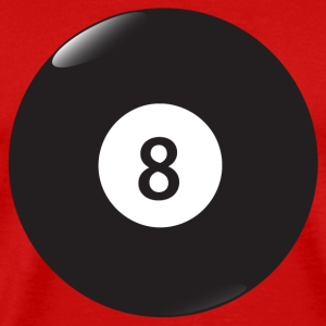 Red 8 ball T-Shirts - Men's Premium T-Shirt