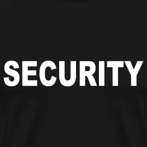 Black Security T-Shirts - Men's Premium T-Shirt