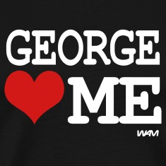 Black george loves me by wam T-Shirts