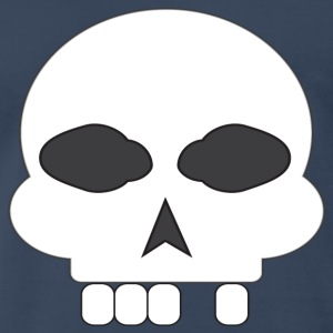Navy skull_missing_tooth T-Shirts - Men's Premium T-Shirt