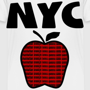 White NYC With Big Apple And 5 Boroughs--DIGITAL DIRECT PRINT ONLY Toddler Shirts - Toddler Premium T-Shirt