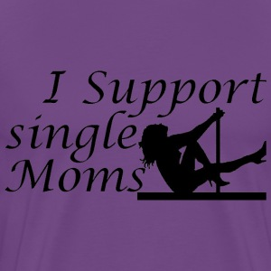 Purple Single Moms T-Shirts - Men's Premium T-Shirt