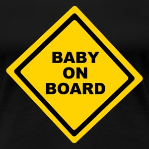 Black Baby On Board Plus Size - Women's Premium T-Shirt