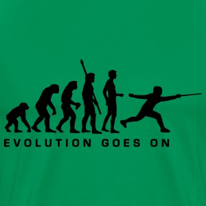 Sage evolution_fechter_d T-Shirts - Men's Premium T-Shirt
