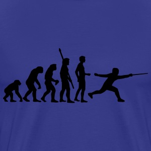 Royal blue evolution_fechter_b T-Shirts - Men's Premium T-Shirt