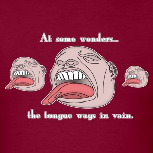 Burgundy waginvain_copy T-Shirts - Men's T-Shirt