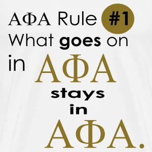 White Alpha Phi Alpha Rule T-Shirts - Men's Premium T-Shirt