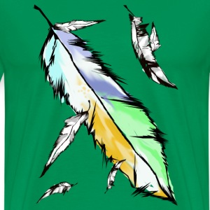 Large Soft Feather - Men's Premium T-Shirt
