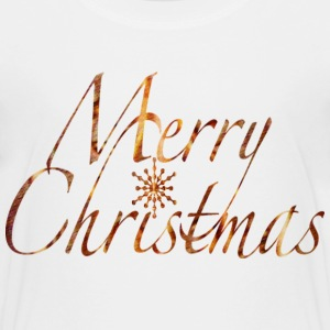 White MERRY CHRISTMAS SNOWFLAKE Toddler Shirts - Toddler Premium T-Shirt