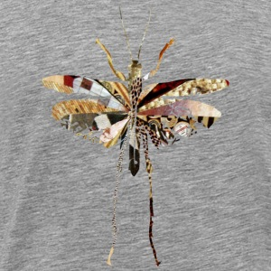 Ash  collage art GRASSHOPPER T-Shirts - Men's Premium T-Shirt