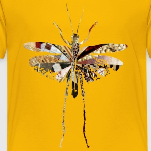 Yellow collage art GRASSHOPPER Kids' Shirts - Kids' Premium T-Shirt