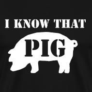 Design ~ Pig - Black - Men's