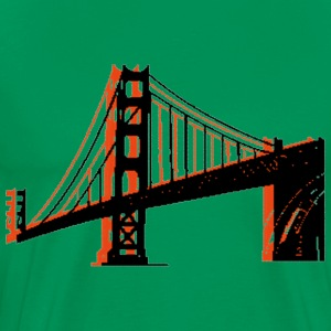 Forest green Golden Gate Bridge T-Shirts - Men's Premium T-Shirt