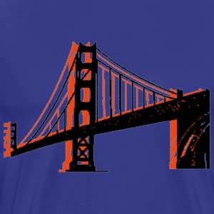 Royal blue Golden Gate Bridge T-Shirts - Men's Premium T-Shirt