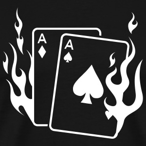 Burning Aces T - Men's Premium T-Shirt