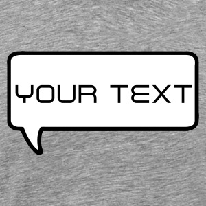 Heather grey bubble with your text T-Shirts - Men's Premium T-Shirt