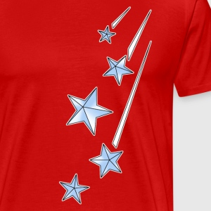 Red shootingstars_copy T-Shirts - Men's Premium T-Shirt