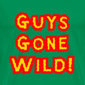 Bright green Guys Gone Wild Spring Bread T-Shirts - Men's Premium T-Shirt