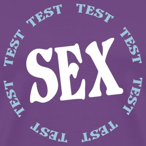 Purple sex T-Shirts - Men's Premium T-Shirt